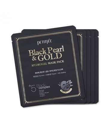 Petitfee Black Pearl & Gold Hydrogel Mask Pack