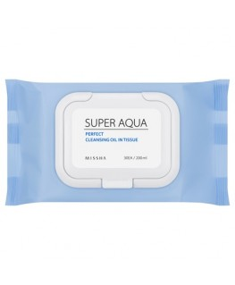 Missha Super Aqua Perfect Cleansing Oil In Tissue 30 sheets