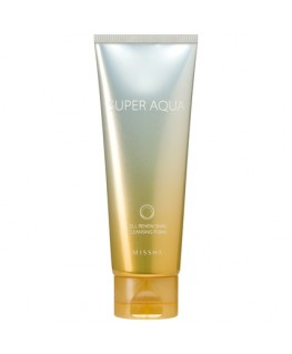 Missha Super Aqua Cell Renew Snail Cleansing Foam 100ml