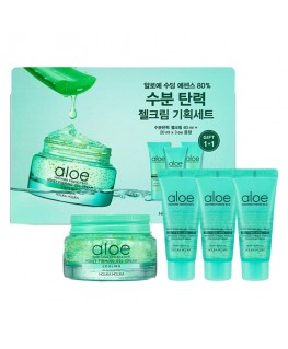 Holika Holika Aloe Soothing Essence 80% Moist Firming Gel Cream Set 100ml